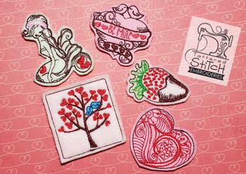 30% Off - Valentine Feltie Bundle 1 - Embroidery Designs
