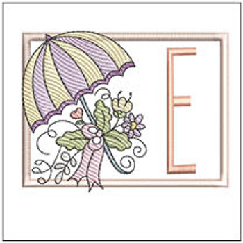 Umbrella Applique ABCs - E- Embroidery Designs