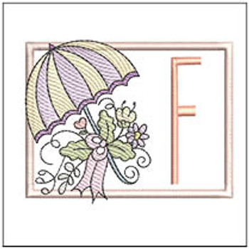 Umbrella Applique ABCs - F- Embroidery Designs