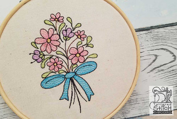 "Daisy Bouquet - Fits a 4x4"" &  5x7""  Hoop - Machine Embroidery Designs"