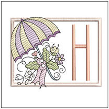 Umbrella Applique ABCs - H - Embroidery Designs