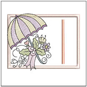Umbrella Applique ABCs - I - Embroidery Designs