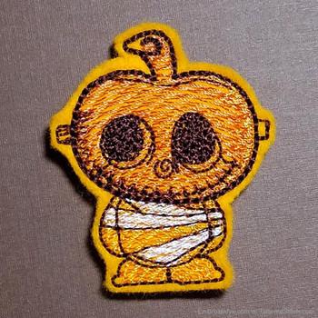 Pumpkin Mummy Feltie - Embroidery Designs