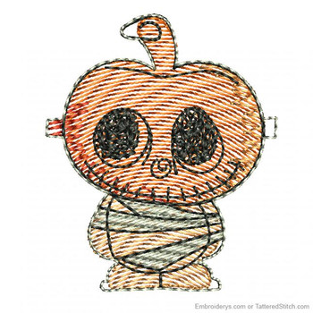 Pumpkin Mummy Feltie - Embroidery Designs