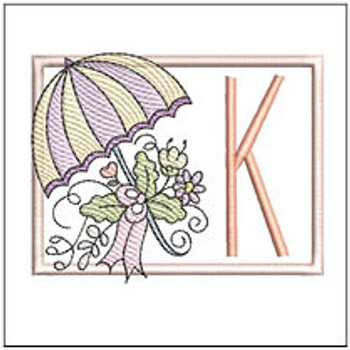 Umbrella Applique ABCs - K - Embroidery Designs