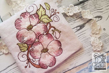 "Dogwood Sachet -  Fits a 4x4"" Hoop - Machine Embroidery Designs"