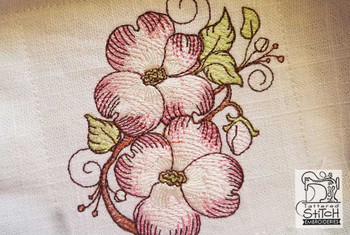 "Dogwood Cluster (FLOWERS ONLY - No Background)-  Fits a 4x4"", 5x7"" and 8x8"" Hoop - Machine Embroidery Designs"