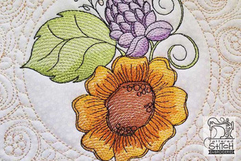 "Sunflower Cluster (Flowers Only - NO Background)-  Fits a 4x4"", 5x7"" and 8x8"" Hoop - Machine Embroidery Designs"