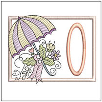 Umbrella Applique ABCs - O - Embroidery Designs