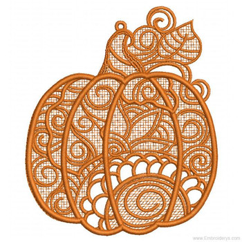 Pumpkin - Free Standing Lace - Embroidery Designs