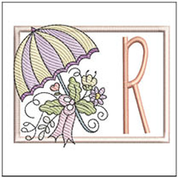 Umbrella Applique ABCs - R - Embroidery Designs