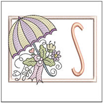 Umbrella Applique ABCs - S - Embroidery Designs