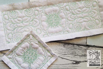 """Floral Scroll Border and Block Fits a  5x5"""", 6x6"""", 7x7"""", 8x8"""" & 10x10""""  Hoop - Machine Embroidery Designs"""