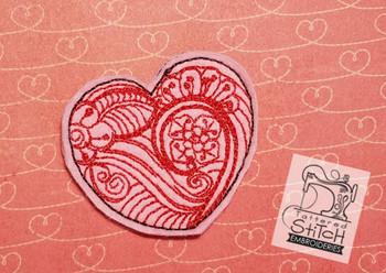 Zentangle Heart Feltie - Embroidery Designs