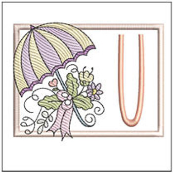 Umbrella Applique ABCs - U - Embroidery Designs