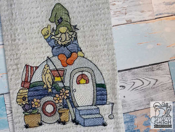 """RV Gnome - Fits a  4x4"""", 5x7"""" &  8x8"""" Hoop - Machine Embroidery Designs"""