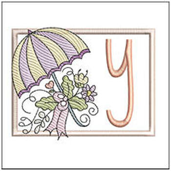 Umbrella Applique ABCs - Y - Embroidery Designs