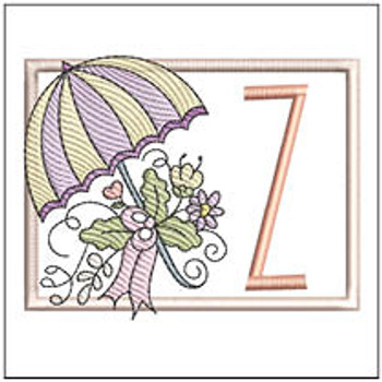Umbrella Applique ABCs - Z - Embroidery Designs