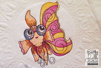 "Goldfish Quilt Block-Fits a  5x5"", 6x6"", 7x7"", 8x8"" & 10x10""  Hoop - Machine Embroidery Designs"