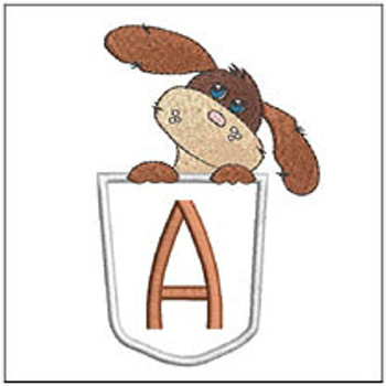 Puppy Luv Applique ABCs - A - Embroidery Designs