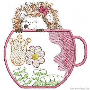 Happy Hedgehog Applique - Embroidery Designs