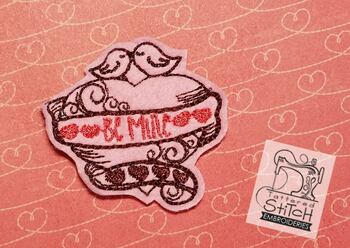 Be Mine Heart Feltie - Embroidery Designs