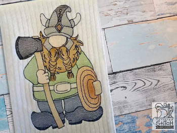 """Viking Gnome - Fits a  4x4"""", 5x7"""" &  8x8"""" Hoop - Machine Embroidery Designs"""