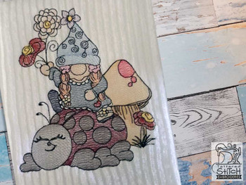 """Ladybug Gnome - Fits a  4x4"""", 5x7"""" &  8x8"""" Hoop - Machine Embroidery Designs"""