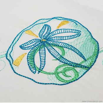 Beautiful Sand Dollar - Embroidery Designs