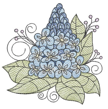 "Bluebell Cluster (Flowers Only - NO Background)-  Fits a 4x4"", 5x7"" and 8x8"" Hoop - Machine Embroidery Designs"