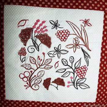Dynamic Leaf Quilt Block - Embroidery Designs