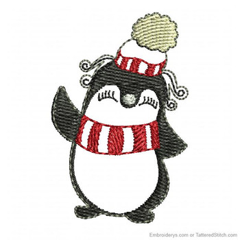 Happy Penguin Feltie - Embroidery Designs