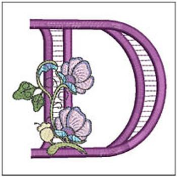 "Jacobean ABCs - D - Fits a 5x7"" Hoop - Embroidery Designs"
