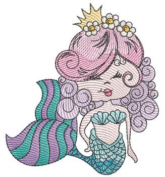 "Mermaid (Mermaid Only) - Fits a  4x4"", 5x7"" &  8x8""   Hoop - Machine Embroidery Designs"