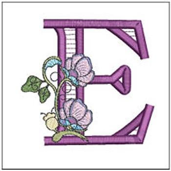 "Jacobean ABCs - E - Fits a 5x7"" Hoop - Embroidery Designs"