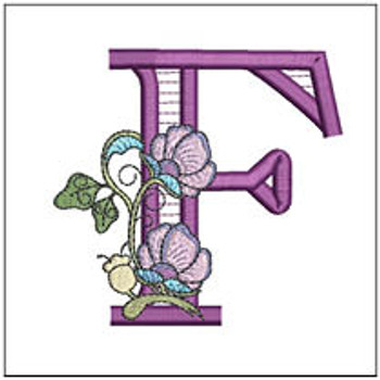 """Jacobean ABCs - F - Fits a 5x7"""" Hoop - Embroidery Designs"""