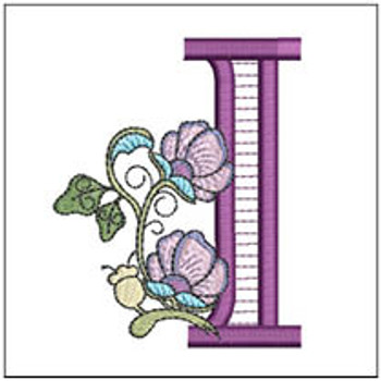"""Jacobean ABCs - I - Fits a 5x7"""" Hoop - Embroidery Designs"""
