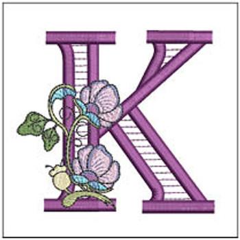 "Jacobean ABCs - K - Fits a 5x7"" Hoop - Embroidery Designs"