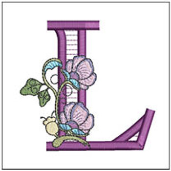 """Jacobean ABCs - L - Fits a 5x7"""" Hoop - Embroidery Designs"""