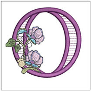 """Jacobean ABCs - O - Fits a 5x7"""" Hoop - Embroidery Designs"""