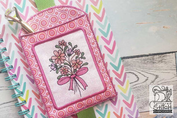 """Floral Bouquet Book Buddy - In the Hoop - Fits a 5x7"""" Hoop - Machine Embroidery Designs"""
