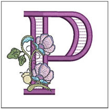 """Jacobean ABCs - P - Fits a 5x7"""" Hoop - Embroidery Designs"""