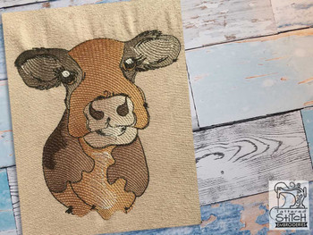 """Cow - Fits a  4x4"""", 5x7"""" &  8x8"""" Hoop - Machine Embroidery Designs"""