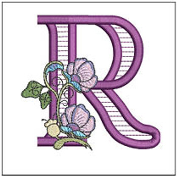 """Jacobean ABCs - R - Fits a 5x7"""" Hoop - Embroidery Designs"""