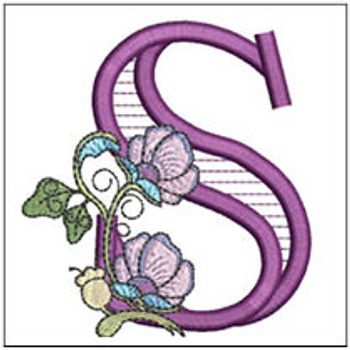 """Jacobean ABCs - S - Fits a 5x7"""" Hoop - Embroidery Designs"""
