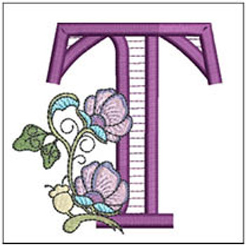 """Jacobean ABCs - T - Fits a 5x7"""" Hoop - Embroidery Designs"""