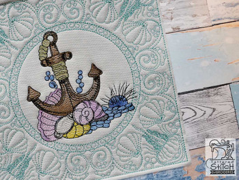 """Anchor Chest Quilt Block-Fits a  5x5"""", 6x6"""", 7x7"""", 8x8"""" & 10x10""""  Hoop - Machine Embroidery Designs"""
