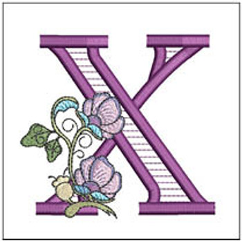 """Jacobean ABCs - X - Fits a 5x7"""" Hoop - Embroidery Designs"""