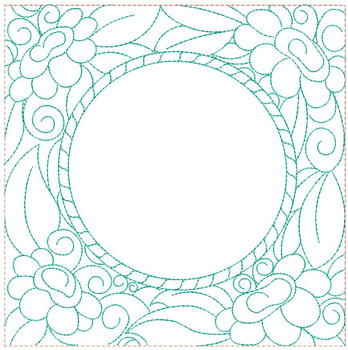 "Floral Quilt Block Background - Fits a  5x5"", 6x6"", 7x7"", 8x8"" & 10x10""  Hoop - Machine Embroidery Designs"