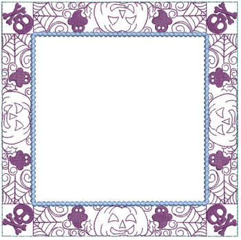 "Halloween Quilt Block Background - Fits a  5x5"", 6x6"", 7x7"", 8x8"" & 10x10""  Hoop - Machine Embroidery Designs"